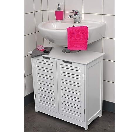 TENDANCE Mueble para ba/ño WC Dise/ño puro y sencillo 2 puertas y 1 estante