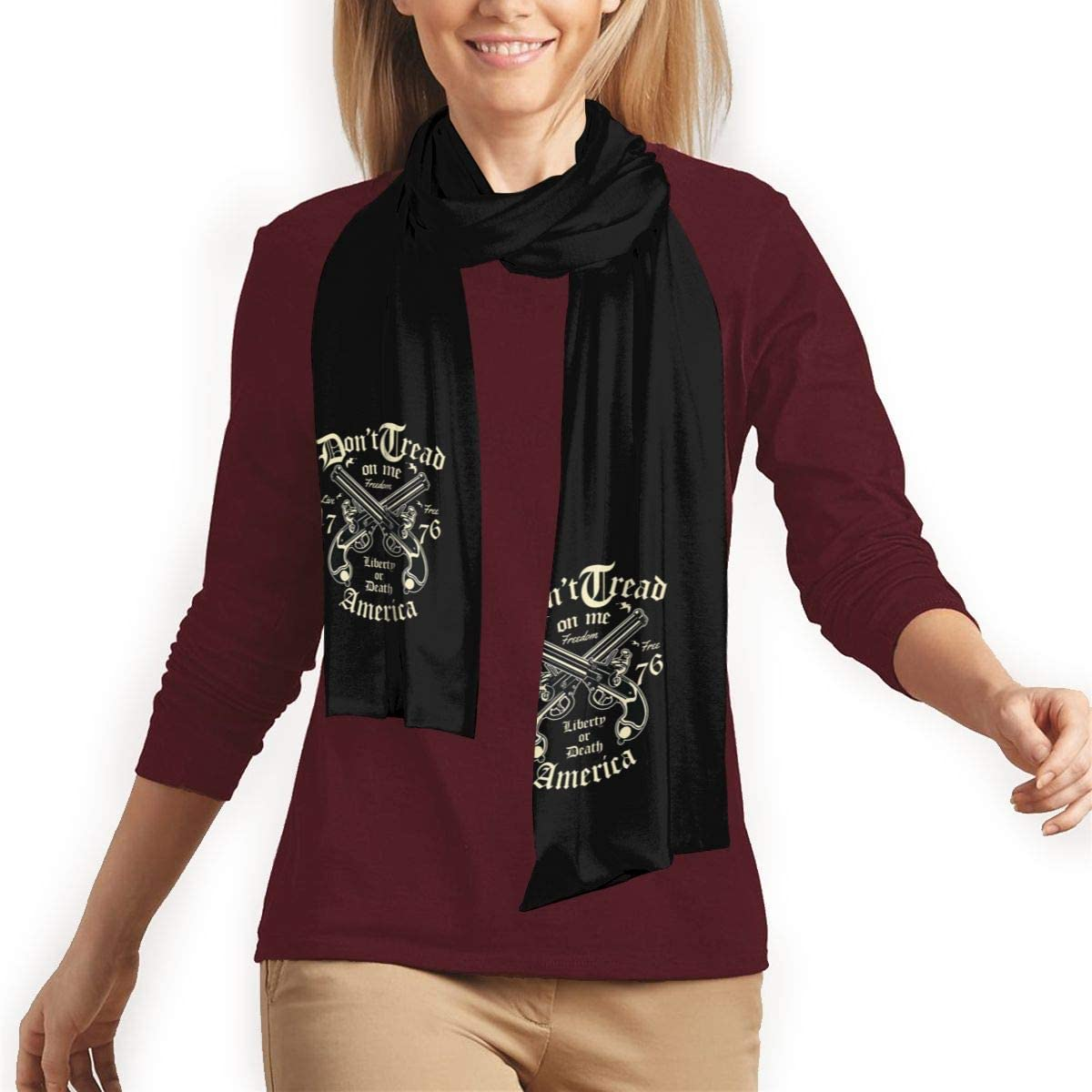 Fashion Formal Soft Scarves For Men And Women Liberty Or Death Winter Scarf