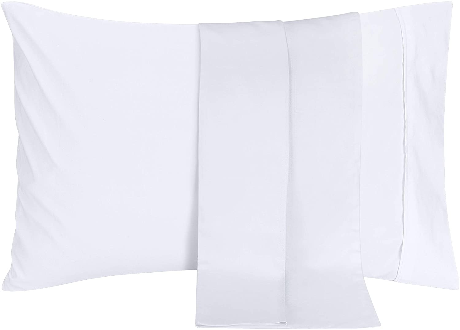 Utopia Bedding Pillowcases 2 Pack – (Queen, White) - Brushed Microfiber Pillow Covers