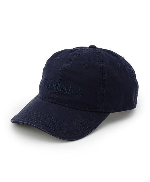 TIMBERLAND - Cappellino con visiera blu e logo ricamato tono su tono davanti 086d8b624a39
