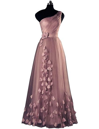 593d9fe03 Amazon.com  YIRENWANSHA 2018 One Shoulder Prom Dress Man Made Tulle ...