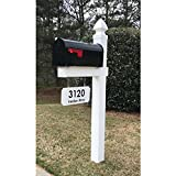 4EVER The Loudon Vinyl/PVC Mailbox Post - White (Includes Mailbox & Black Street Name and Number)