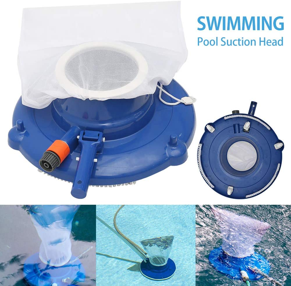 Iraza Poolsauger Bodensauger poolbodenreiniger Vakuumkopf Unterwasser f/ür Schwimmbad Schnelle Reinigung Poolboden Bl/ätter Pool Bodensauger(Ohne Stange)