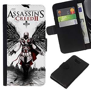 // PHONE CASE GIFT // Moda Estuche Funda de Cuero Billetera Tarjeta de crédito dinero bolsa Cubierta de proteccion Caso Samsung ALPHA G850 / Assassins Cree 2 /