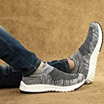 WOODBAY Mens Grey Running Shoes