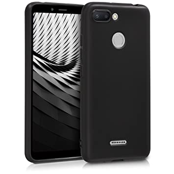 kwmobile Funda para Xiaomi Redmi 6 - Carcasa para móvil en [TPU Silicona] - Protector [Trasero] en [Negro Mate]