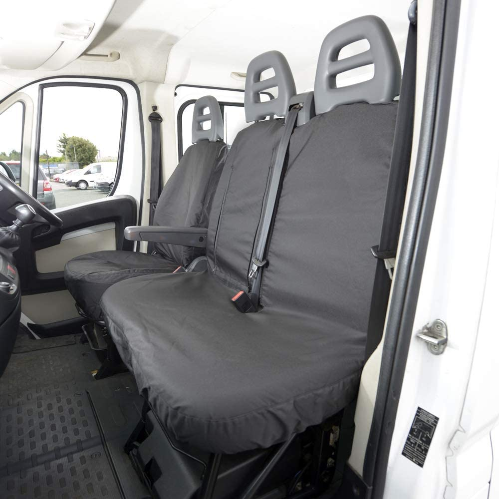 UK Custom Covers SC380BAD2 Tailored Heavy Duty Waterproof Front Seat Covers Black