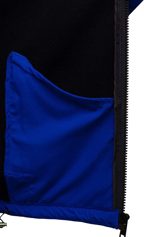 BOLF Hombre Softshell Chaqueta con Capucha Funciones Chaqueta Impermeable Cortaviento Transpirable Outdoor 4D4