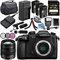 Panasonic Lumix DC-GH5S Mirrorless Micro Four Thirds Digital Camera + Panasonic Lumix G X Vario 35-100mm f/2.8 II POWER O.I.S. Lens + DMW-BLF19 Lithium Ion Battery + 128GB SDXC Card Bundle