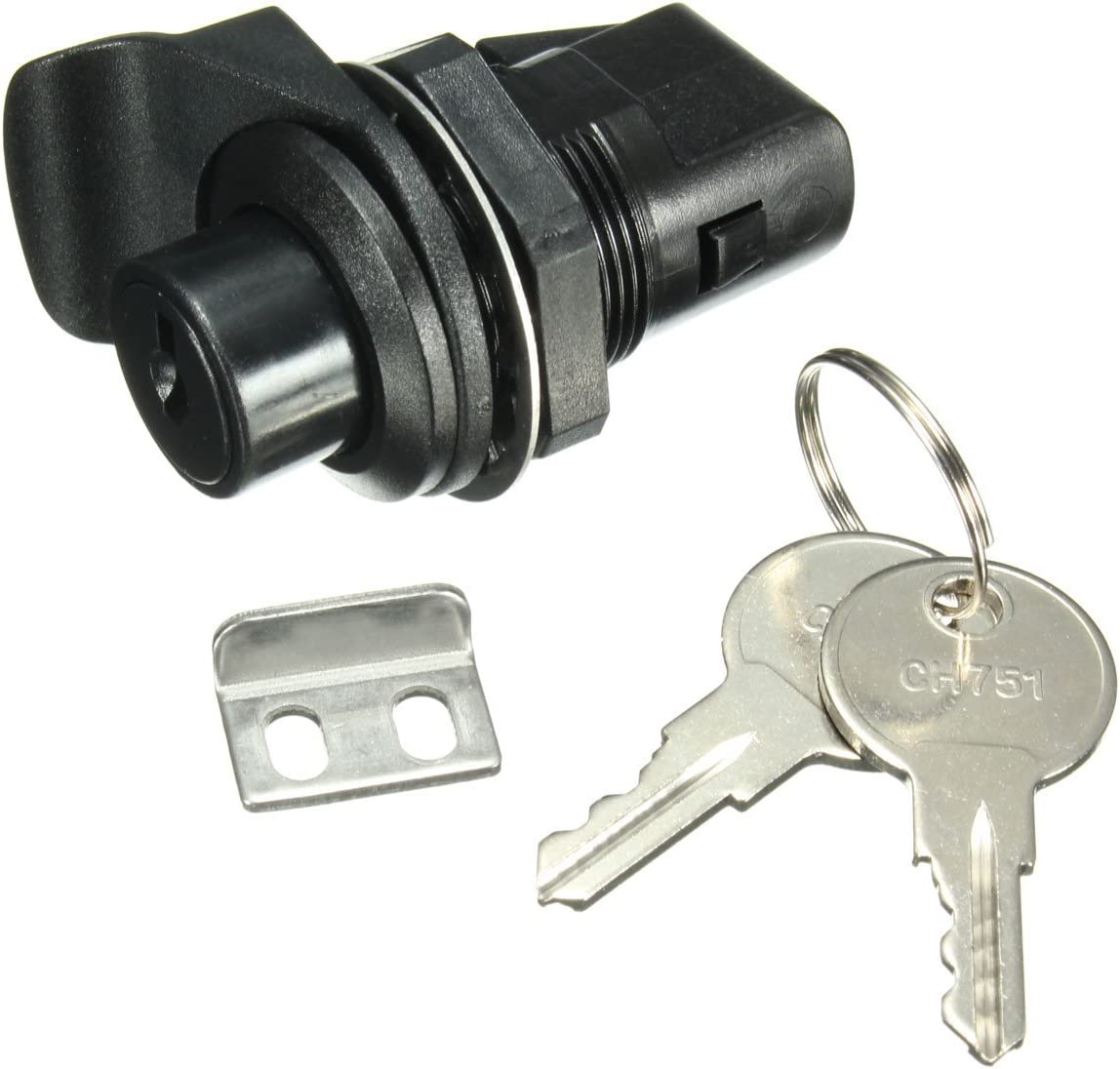 JenNiFer Push Button Latch With Key For Motorcycle Boat Door Gloveboxes Lock