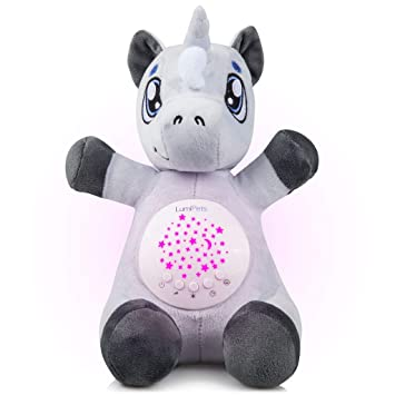 188b2120ccc5 Amazon.com : Baby White Noise Machine Music soothers for Sleep: Lumipets Night  Light Projector and Sound Machine Baby Shusher Unicorn Stuffed Animal Baby  ...