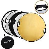 Selens 5-in-1 Handle 43 in (110cm) Round Reflector for Photography Photo Studio Lighting & Outdoor Lighting