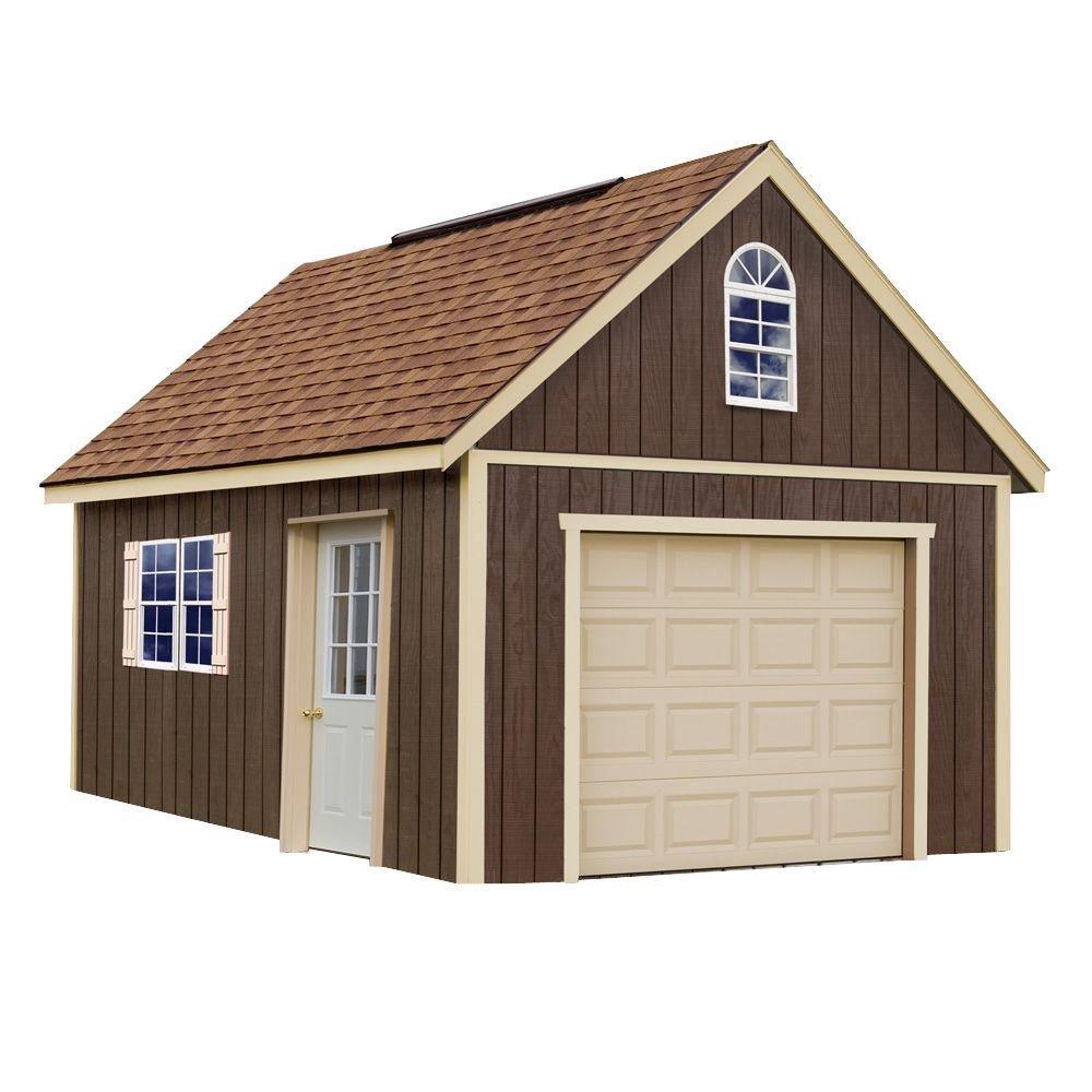 Amazon.com: Glenwood 12 ft. x 16 ft. Wood Garage Kit without Floor ...