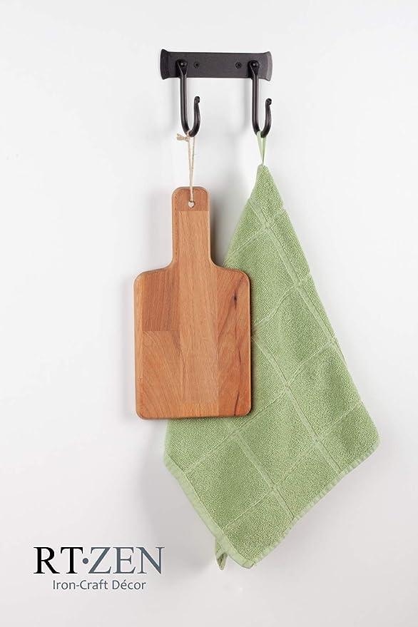 Amazon.com: RTZEN 2 Hooks Classic Decorative Wrought Iron ...
