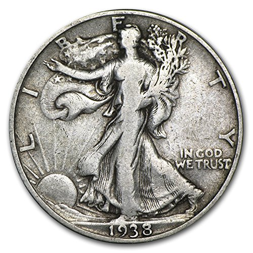 1938 P Walking Liberty Half Dollar 50C VG/VF