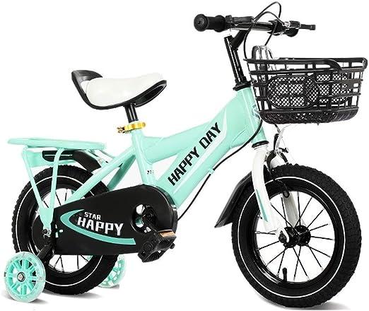 SGMYMX Bicicleta para niños Bicicleta for niños luz Bicicleta ...