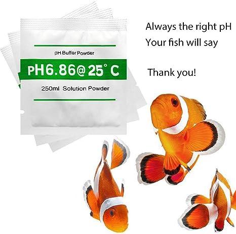4.01 6.86 9.18 Nynel Set di 12 pezzi di pH per test di misurazione della polvere e tampone di pH per pH e metro di calibrazione rapida e accurata del pH di purezza dacqua