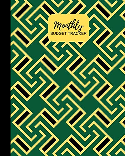 Monthly Budget Tracker: Green Personal Income & Expense Notebook Organizer | Includes Savings Goals, Fixed & Other Expenses, Monthly & Yearly Calendar Planning | 8x10