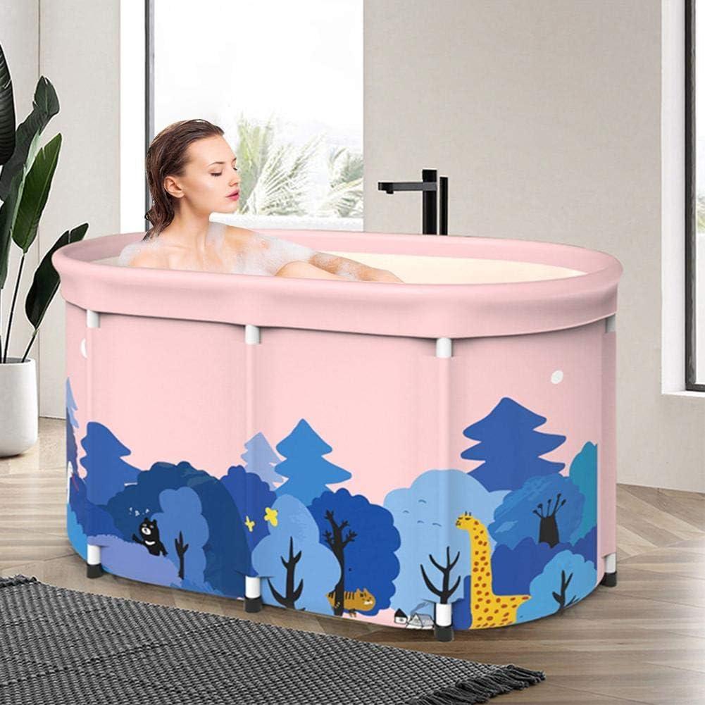 N//Y Folding Bathtub Portable Non-inflatable Soaking Bath Bucket Freestanding Washbasin Tub For Home Outdoor Steaming Room Pool Spa