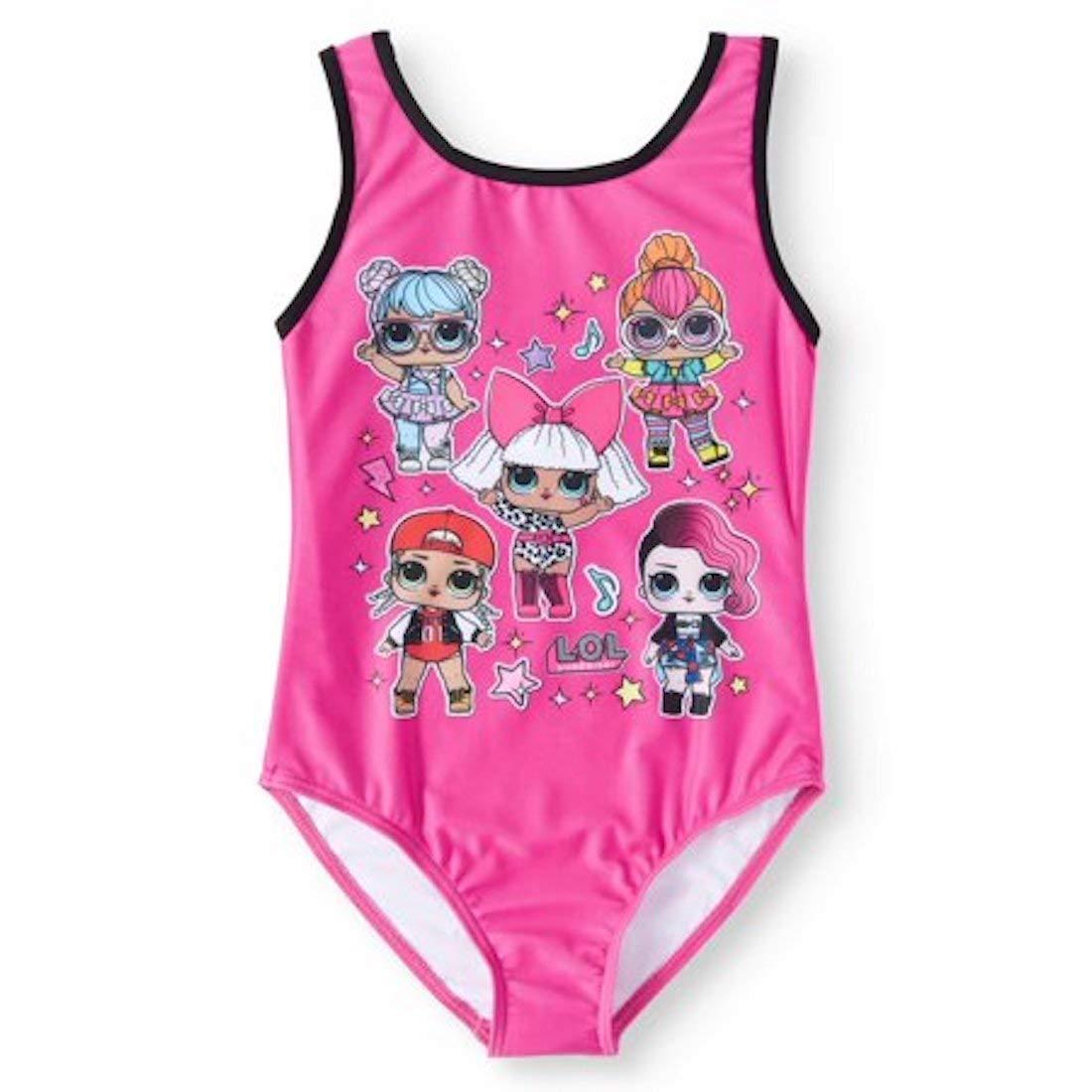 Girls Magic Pink Bathing Suit 6X L.O.L Surprise