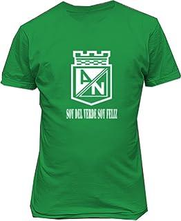 TJSPORTS Club Atletico Nacional de Colombia T Shirt Camiseta Soy del Verde Soy Feliz