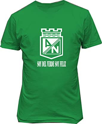 Club atletico nacional de colombia T shirt camiseta Soy del Verde Soy feliz (small)