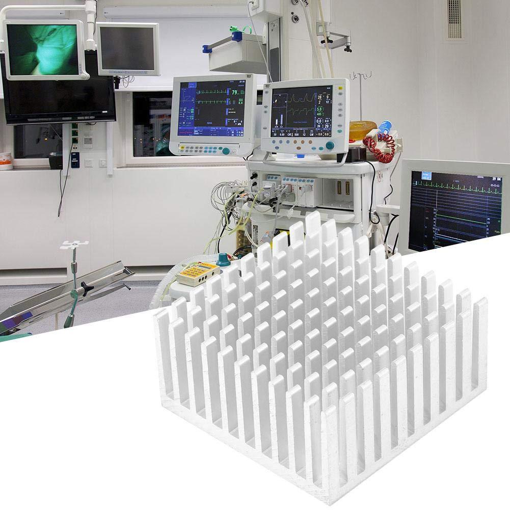 5Pcs Aluminum Heat Sinks 40x20x40mm Cooler Fin Heatsink Module for High Power LED Amplifier Transistor Silver