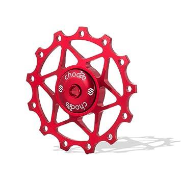 Rueda Chooee para desviador trasero de cerámica, para Shimano SRAM, color rojo, tamaño 15T, 0.06: Amazon.es: Deportes y aire libre