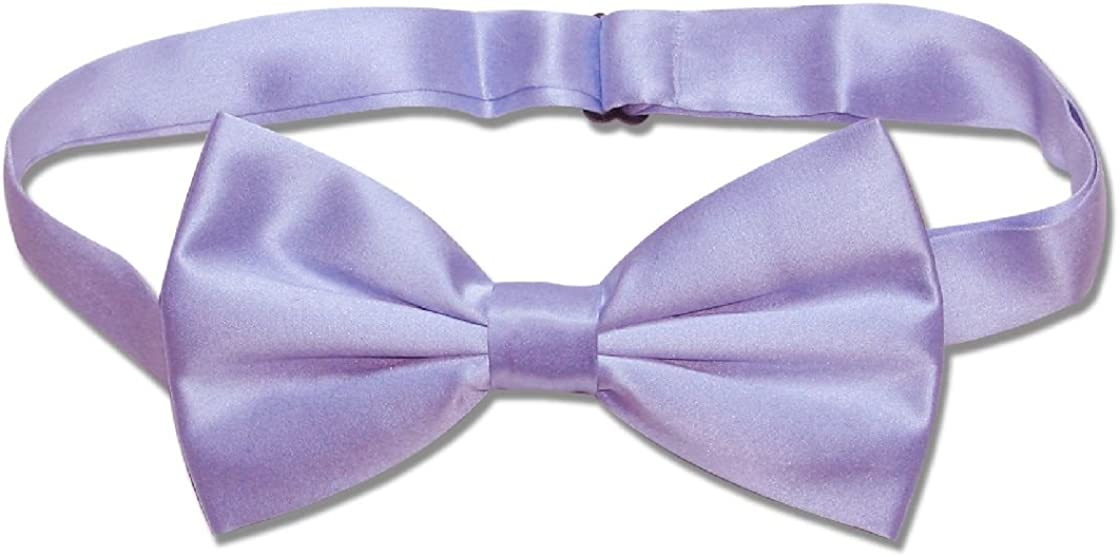 MENS BOW TIE PAISLEY PURPLE BOWTIE  PRE-TIED BOW WITH CLIP