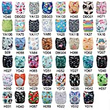 Babygoal U Pick Up Baby Cloth Diapers, One Size Adjustable Reusable Pocket Nappy 12pcs Diapers+12pcs Reusable 3 Layer Microfiber Inserts 12FZ04-1
