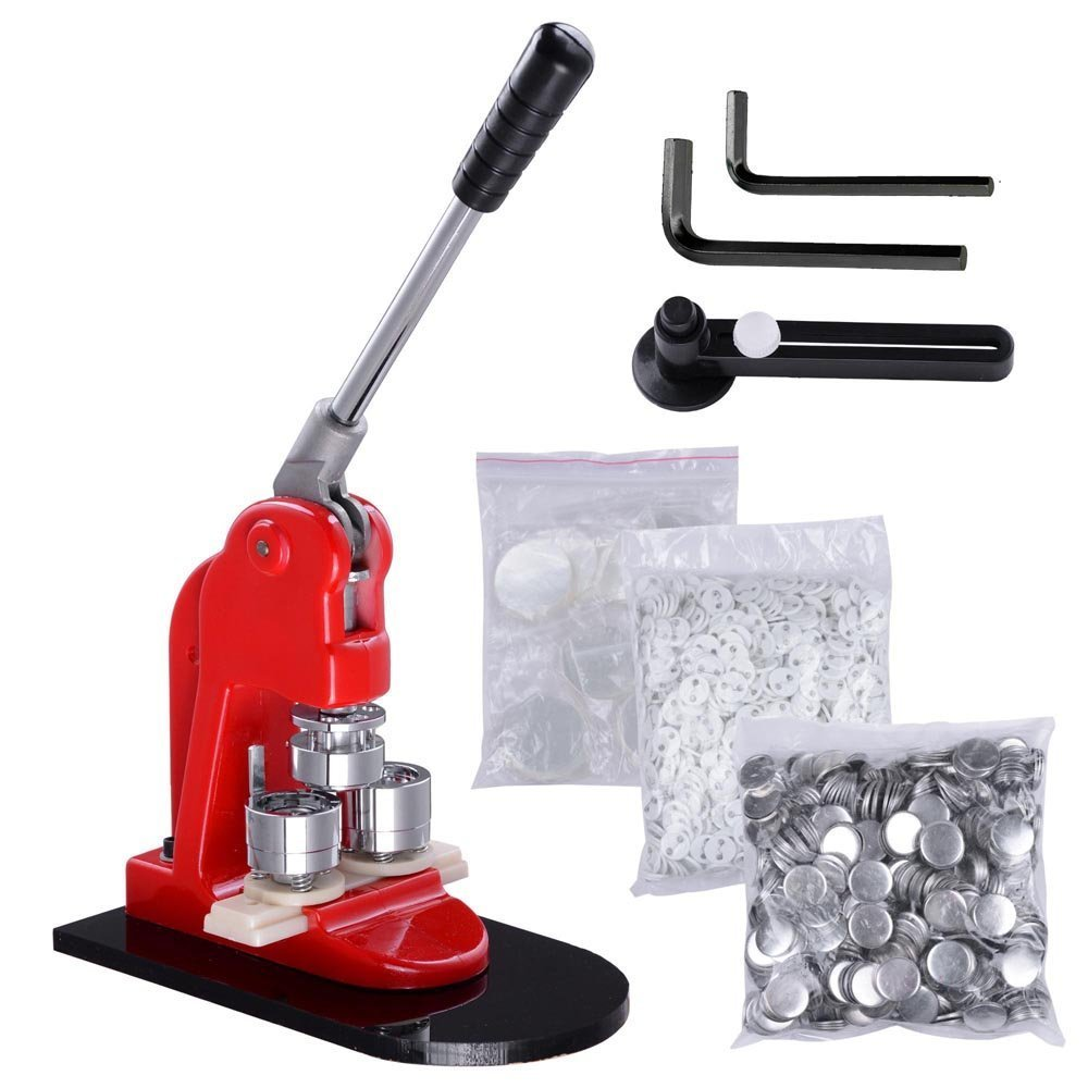VEVOR Button Maker 2.28Inch 58mm Button Badge Maker Punch Press Machine with 1000 Pcs Circle Button Parts and Circle Cutter (58MM 1000P) by VEVOR