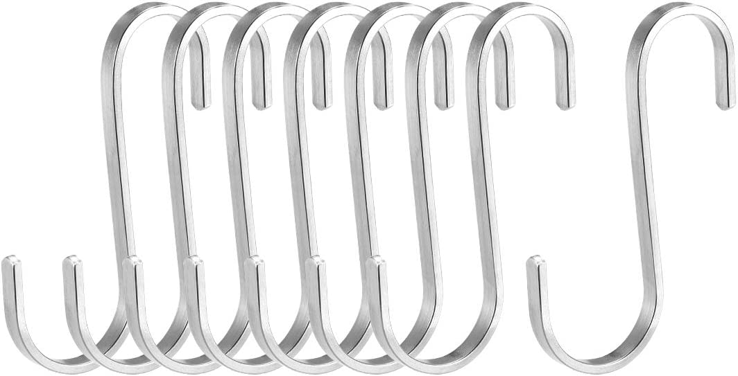 uxcell Metal S Hooks 2.76 S Shaped Hook Hangers for Kitchen Bathroom Bedroom Storage Room Office Outdoor Multiple Uses 30pcs