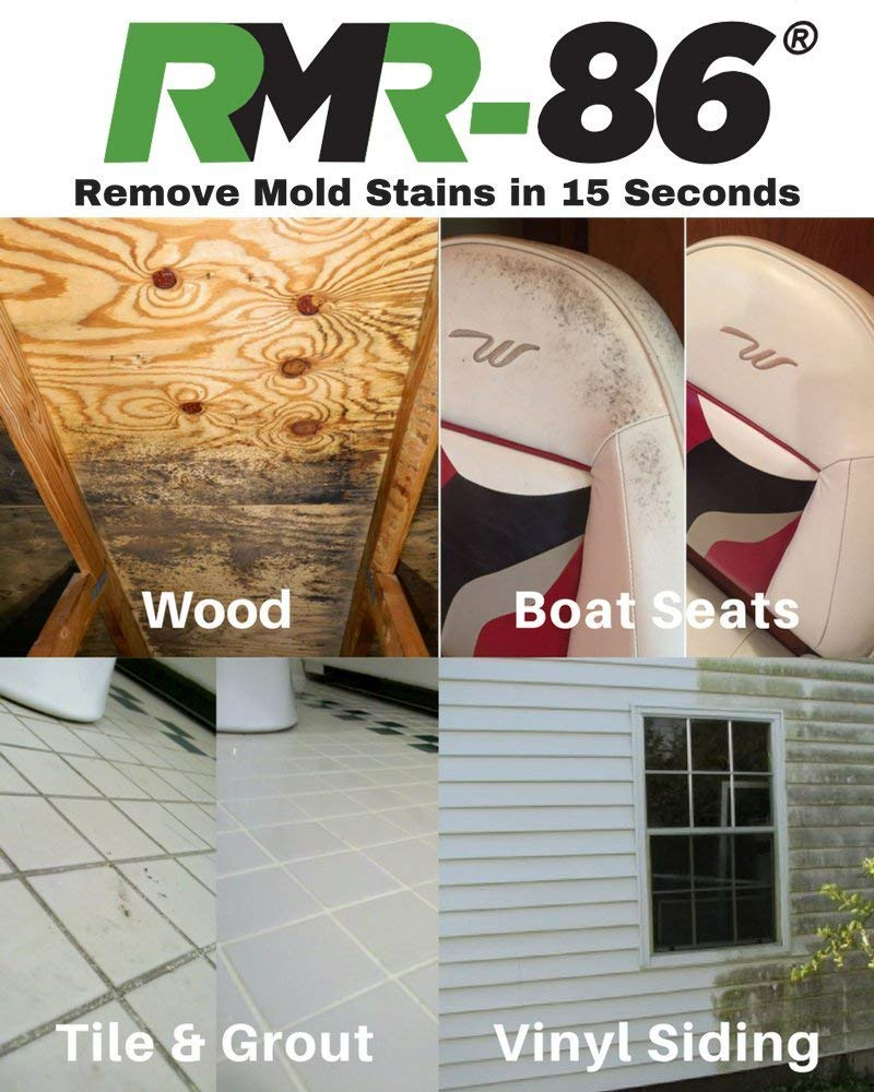 RMR-86 Instant Mold Stain and Mildew Stain Remover Plus Mold Stain Blocker (1 Gallon) (Renewed) by RMR Brands (Image #2)