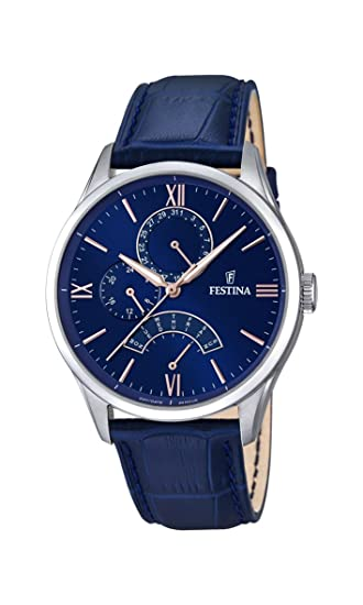 Amazon.com: Festina Classic F16823/3 Mens Wristwatch Classic & Simple: Watches
