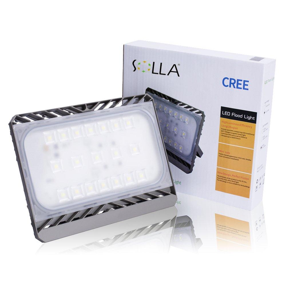 【三年保証】SOLLA Sliver 高品質LED投光器 70w 3000K 電球色 CREE製素子 日本レベル筐体 IP65防水防塵 長寿命広角フラッドライト 作業灯 B01MTXW1SC 70w|電球色(3000K) 電球色(3000K) 70w