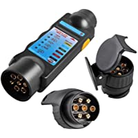 Conecte Tester con 2 Adaptador probador iluminación Caravana