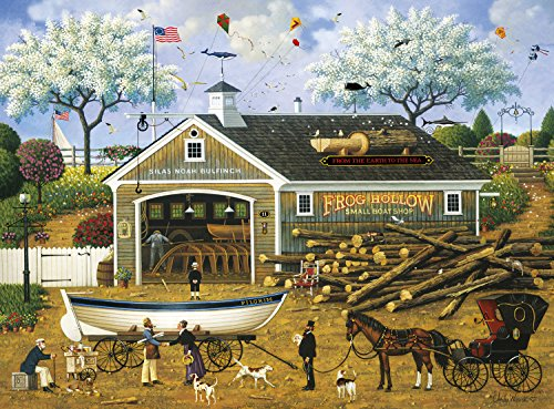 Buffalo Games - Charles Wysocki - Dahlia Makes a Dory Deal - 1000 Piece Jigsaw Puzzle by Buffalo Games