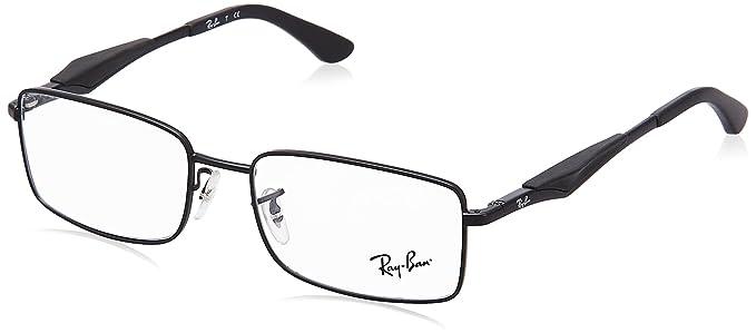 69b2fe1b131 Amazon.com  Ray-Ban Men s RX6284 Eyeglasses Matte Black 55mm  Shoes