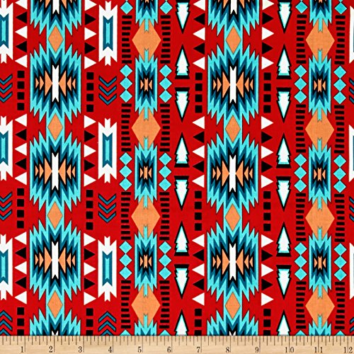 Native Spirit Stripe Red Fabric By The Y - Native American Fabric Shopping Results