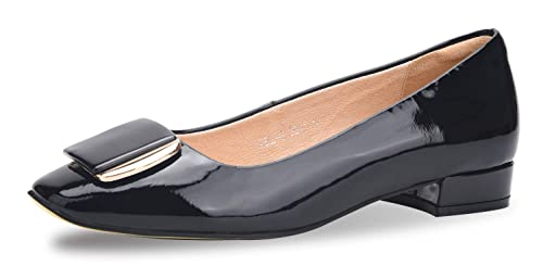 Amazon Com Wskeisp Womens Low Block Heel Chunky Pumps Shoes Slip