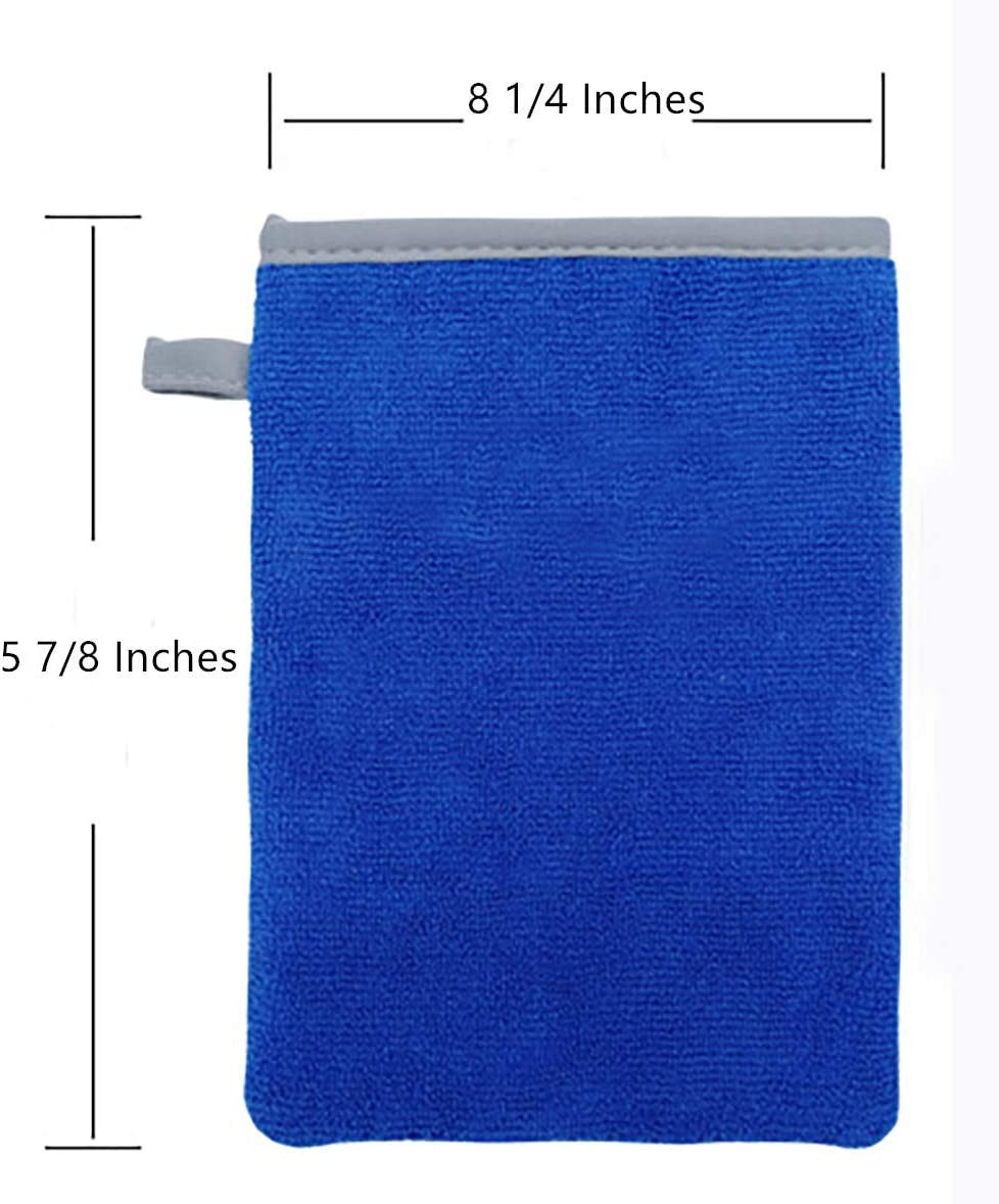 8 1//4 /× 5 7//8 Inches Fine Grade Clay Bar Mitt /& Surface Prep Mitt Finish for Removing Bonded Contamination to Paint Glass Wheels Yesland Clay Mitt