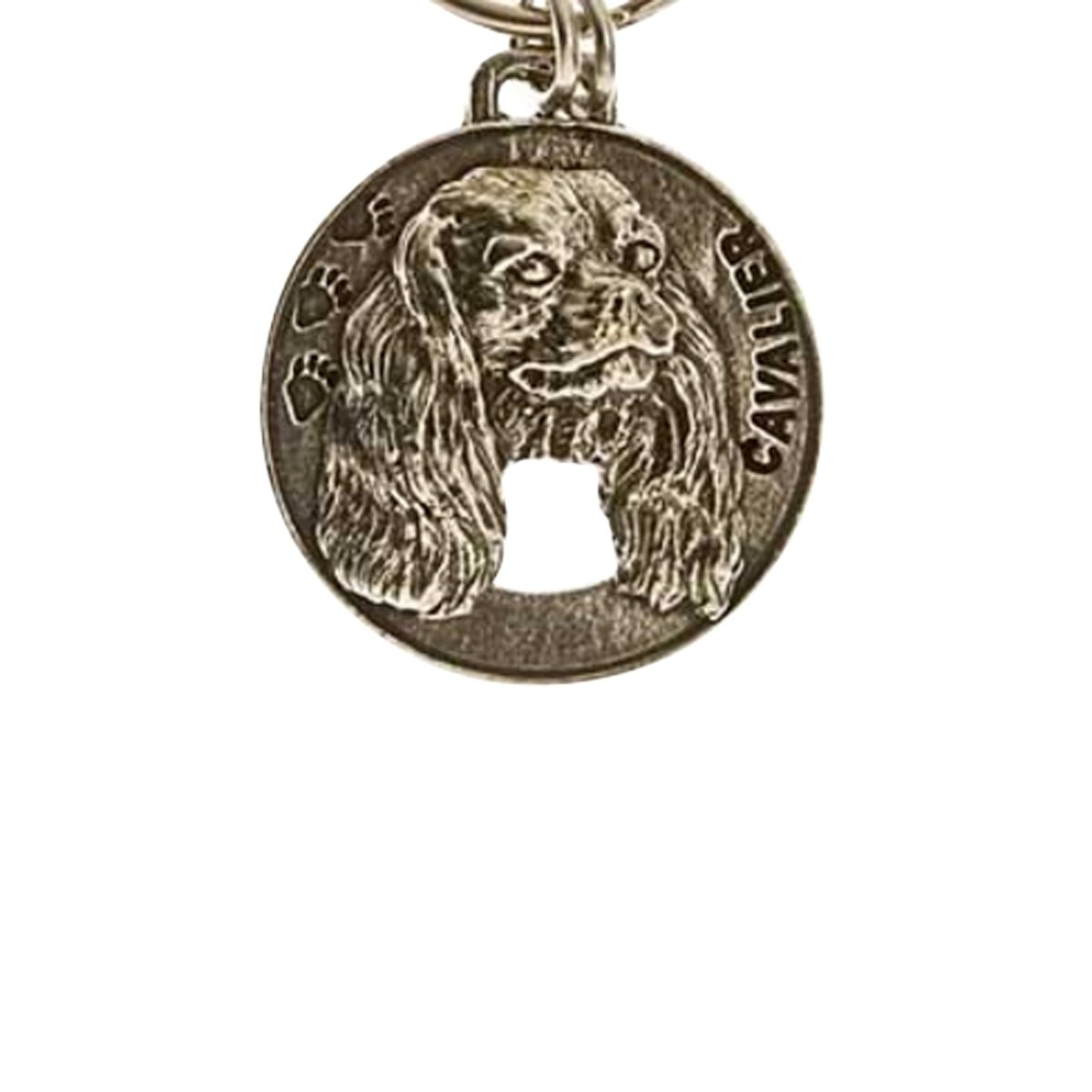 Creative Pewter Designs, Pewter Cavalier King Charles Key Chain, Antiqued Finish, DK044 by Creative Pewter Designs (Image #1)