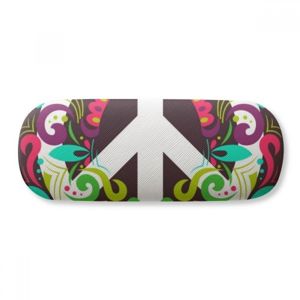 Colorful Peace Symbol Anti-war Pattern Glasses Case Eyeglasses Clam Shell Holder Storage Box