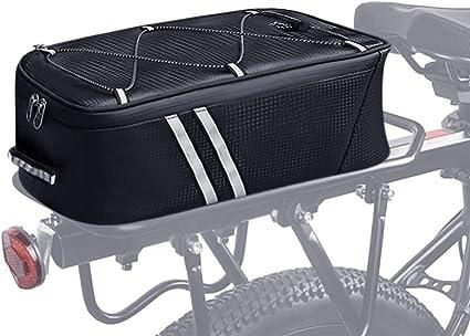 ENGWE Bike Trunk Bag Bicycle Rack Rear Carrier Bag 7L Bicycle Commuter Bag Water Resistant Bike Rack Bag with Rain Cover