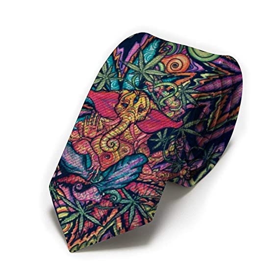 GZOSWLGS Corbata de marihuana Weed Leaf Classic para hombre ...