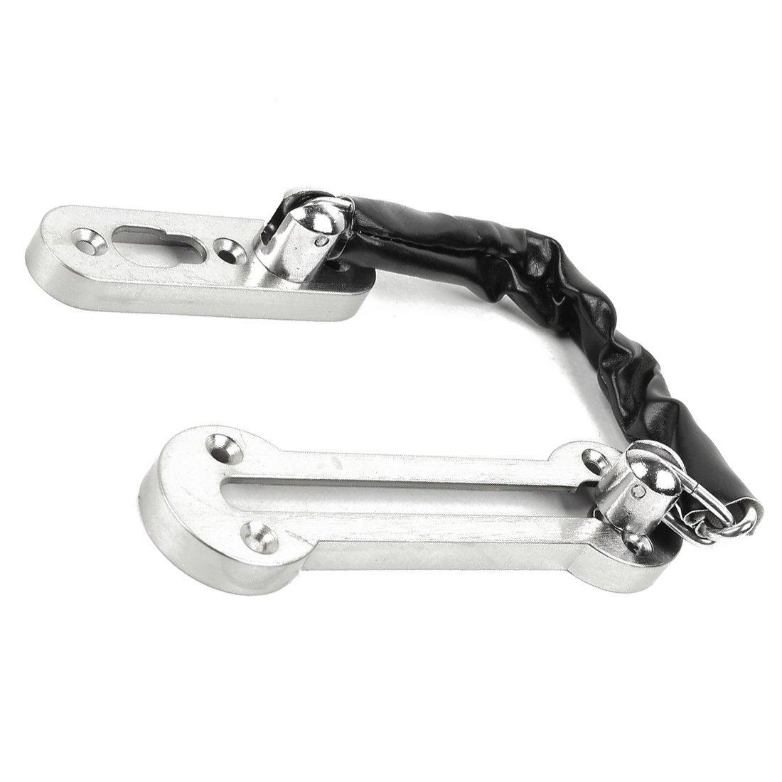 Bloqueo de seguridad de cadena de puerta de casa cerradura de seguridad del acero inoxidable del tono de plata Bloqueo de seguridad R SODIAL