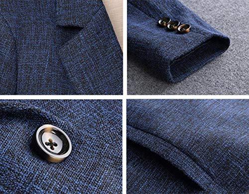 Ufficio Blau Monocromo Blazer Primaverile Donna Bavero Con Tasche Moda Fit Lunga Tailleur Giubbino Slim Da Outerwear Manica Giacca Elegante Business Autunno w4qYp1R