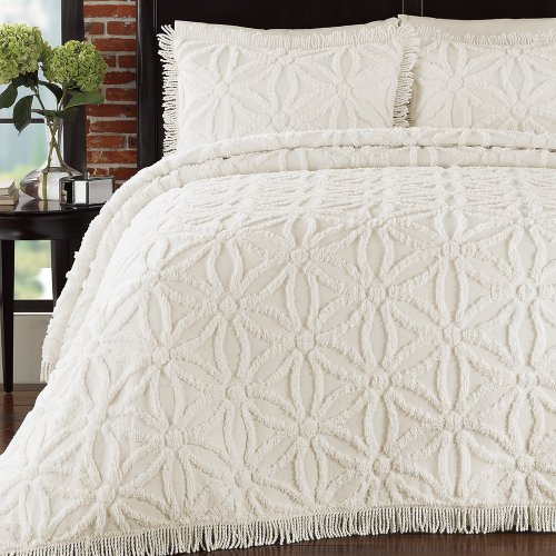 Lamont Home Arianna Bedspread, King, Ivory by Lamont Home
