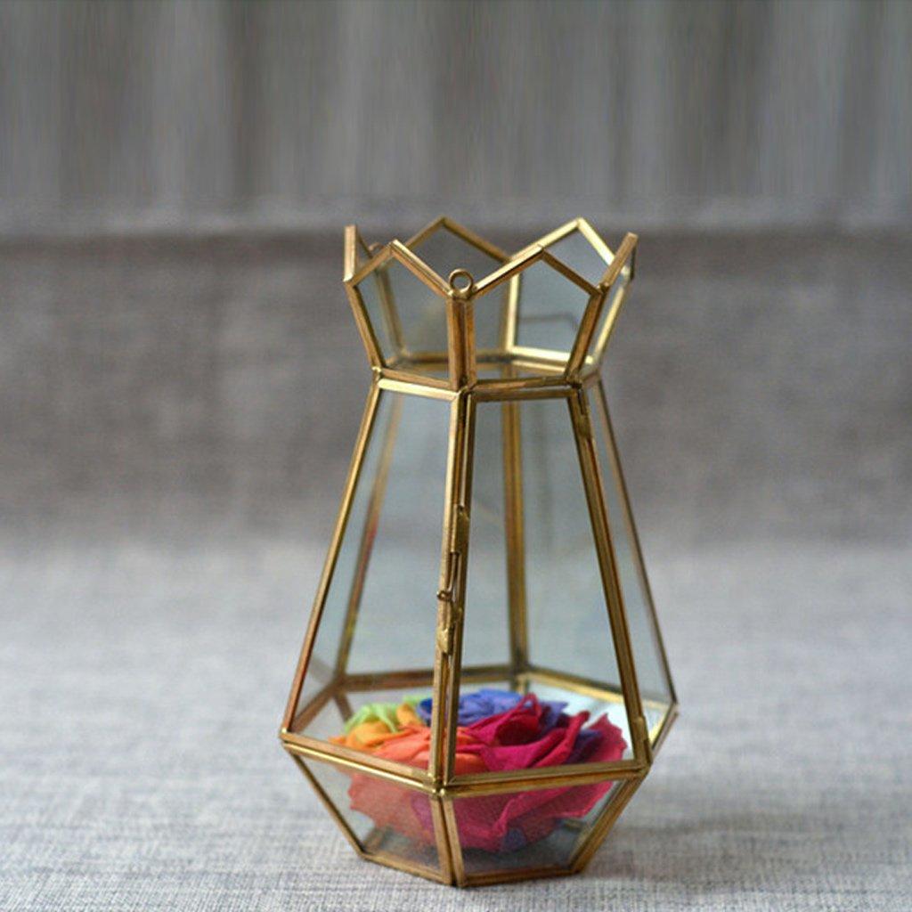 jinxin Glass Greenhouse/Hanging Geometry Glass Greenhouse/Micro Landscape Greenhouse Glass Flower (Size : A)