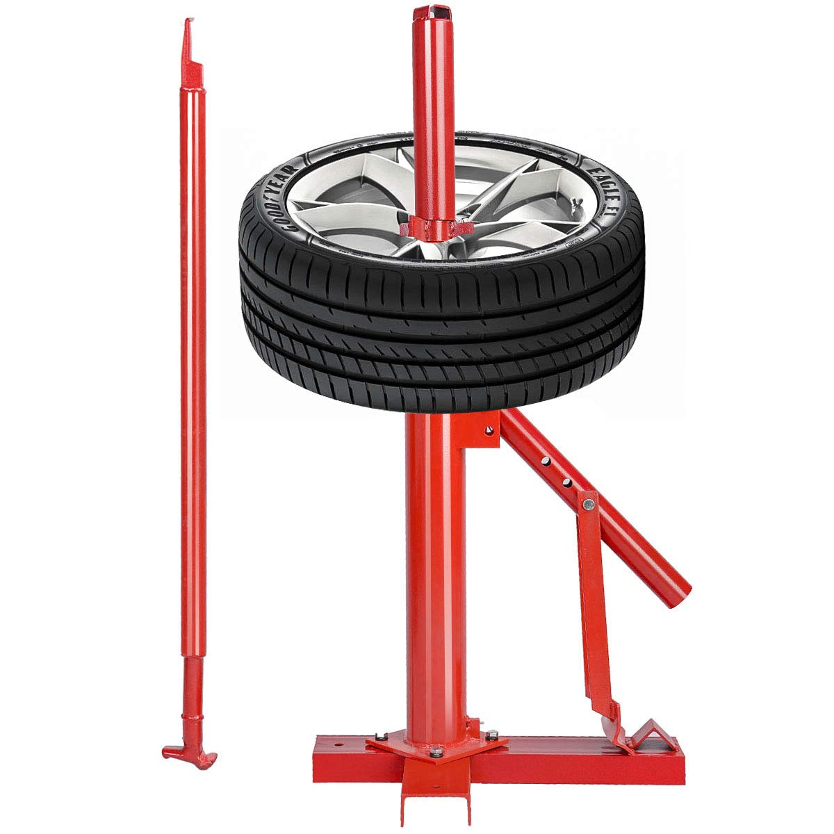 Goplus Manual Portable Hand Tire Changer Bead Breaker Tool Mounting Home Shop Auto
